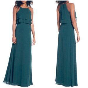 Jenny Yoo Bridesmaid Prom Formal Gown Dress Green